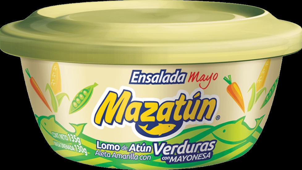 Lomo de atún con verduras y mayonesa en lata