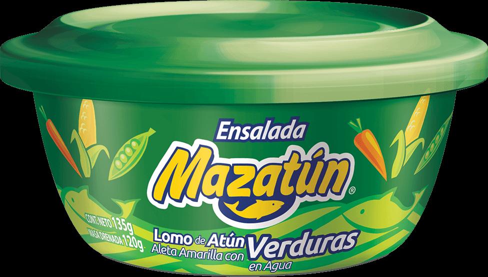 Atún en agua con verduras Mazatún