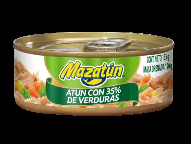 Lata de atún con verduras