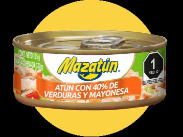 Lata de atún con verduras y mayonesa