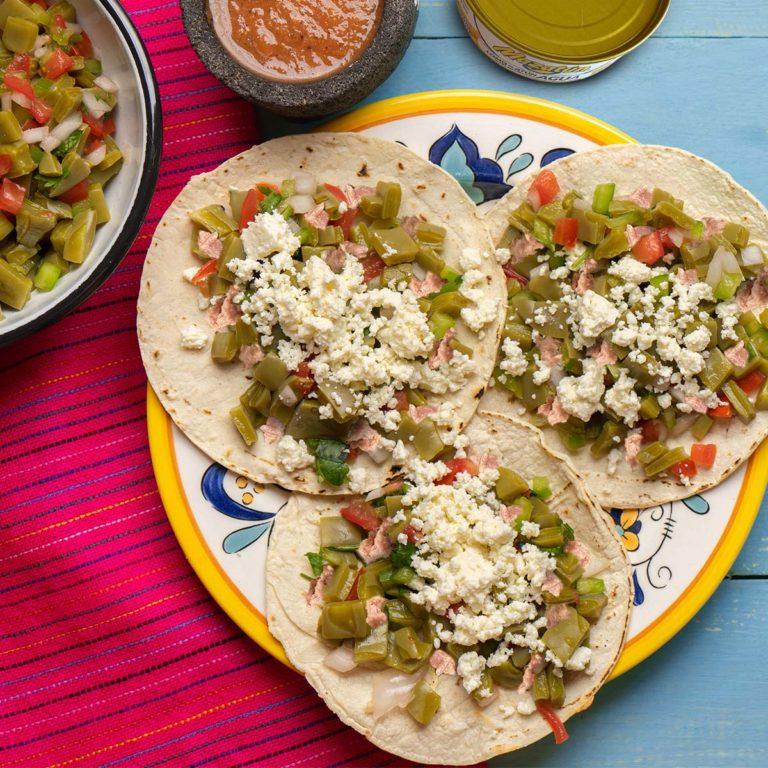 Tacos de nopal