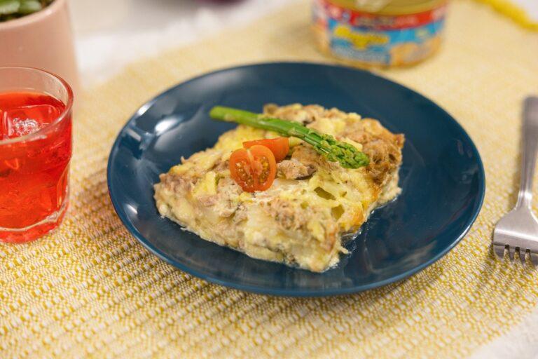 Pastel de papa con atún Mazatún y queso gratinado