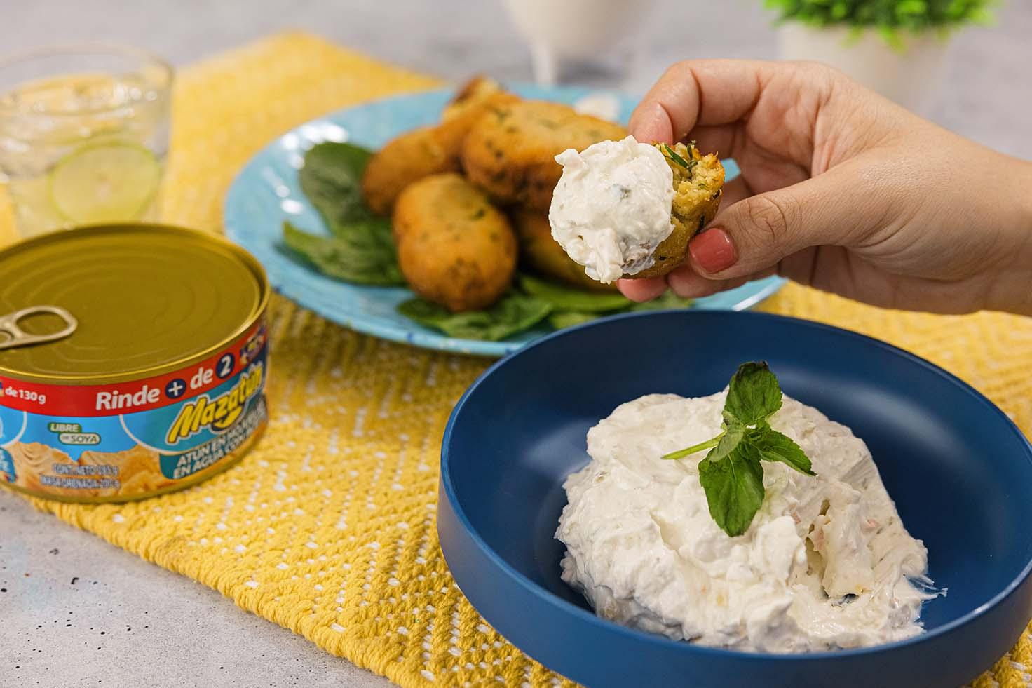Falafel con atún Mazatún y espinaca