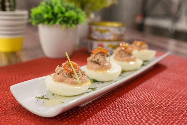 Huevos duros con atún Mazatún Spicy