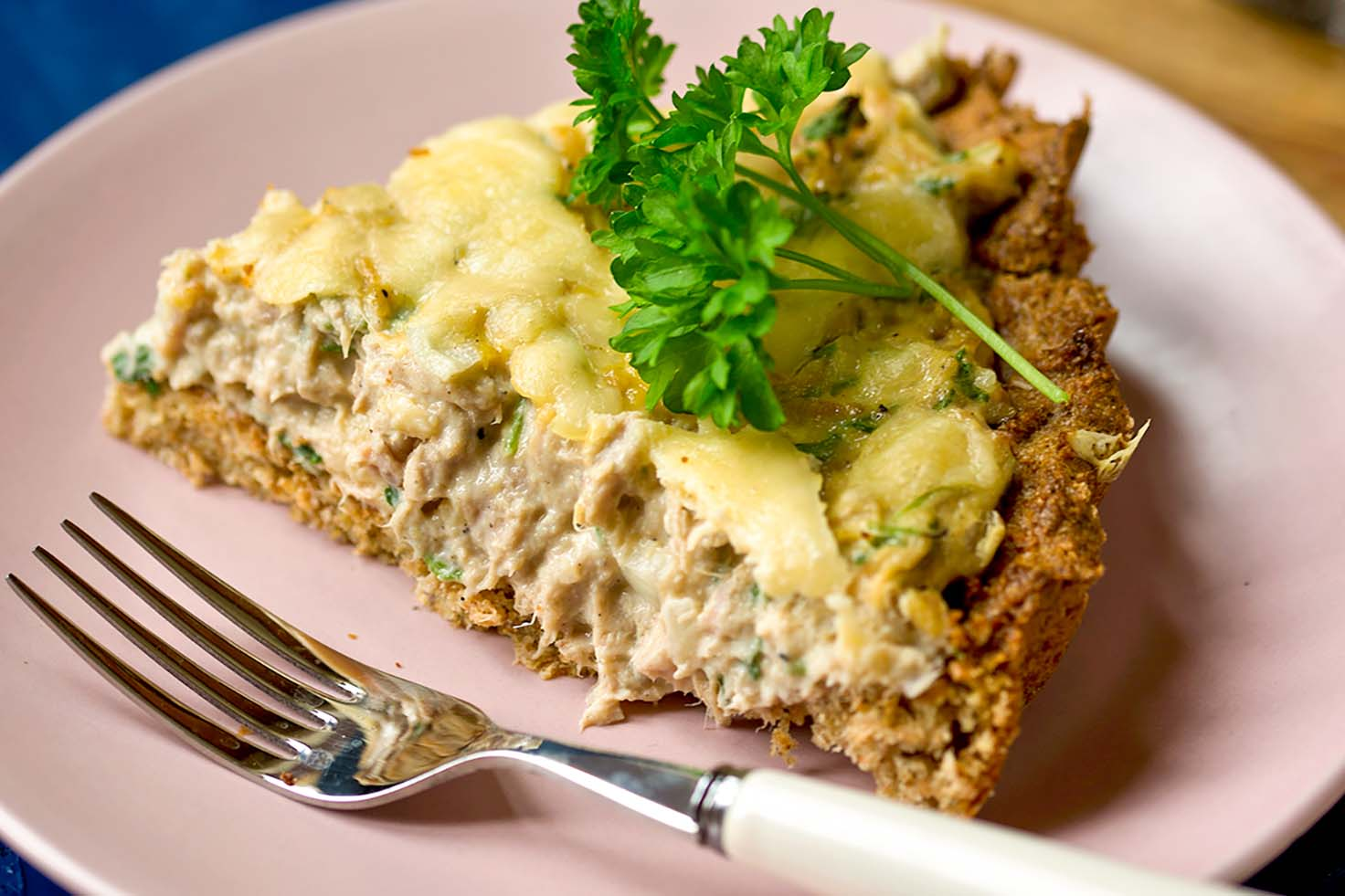 Delicious,Tuna,Tart,With,Ricotta,Cheese.,Creamy,Tart,For,Dinner.