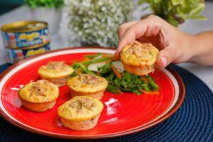 Muffins de huevo y atún